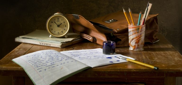 Old-fashioned writing materials